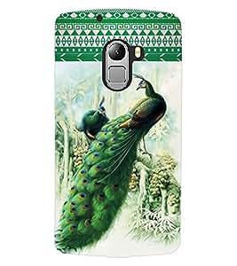 ColourCraft Beautiful Peacocks Design Back Case Cover for LENOVO VIBE X3 LITE