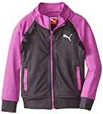 PUMA Little Girls Ruffled Color-Block Track Jacket