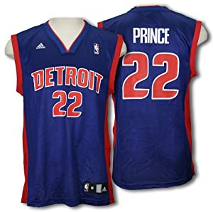 Detroit Pistons TAYSHAUN PRINCE #22 Mens NBA Replica Jersey, Blue by adidas