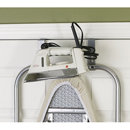 ... Household Essentials Over The Door Small Ironing Board Iron Holder