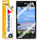 [3-PACK] DeltaShield BodyArmor - LG Optimus Showtime Screen Protector - Premium HD Ultra-Clear Cover Shield with Lifetime Warranty Replacements - Anti-Bubble & Anti-Fingerprint Military-Grade Film