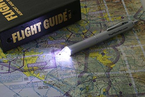 Led Pen, The Pilot'S Pen, Aviator Model - Led Powered Ink Penlight With Night Vision Lenses