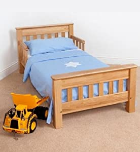 Saplings Warwick Oak Wooden Junior Toddler Bed Amazon