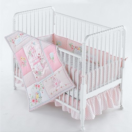 Deal Disney 4 Piece Crib Set Baby Girls Princess Set Pink online