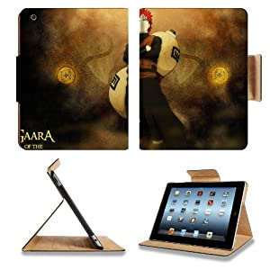 Naruto Gaara Shinobi Ninja Ninpo Apple Ipad 4 Flip Case Stand Anime Game Manga Comic ACG Smart Magnetic Cover Open Ports Customized Made to Order Support Ready Premium Deluxe Pu Leather 9 7/8 Inch (250mm) X 7 7/8 Inch (200mm) X 5/8 Inch (17mm) Woocoo Ipad Professional Ipad 3rd generation Accessories Retina Display Graphic Background Covers Designed Model Folio Sleeve HD Template Designed Wallpaper Photo Jacket Wifi 16gb 32gb 64gb Luxury Protector