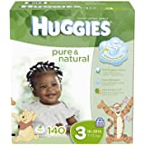 Huggies Pure and Natural Diapers, Size 3, 140 Count (Discontinued by Manufacturer)