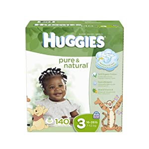 Huggies Pure and Natural Diapers, Size 3, 140 Count