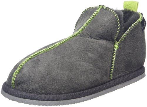 Shepherd - Nice, Pantofole Unisex - Bambini, Grey (Asphalt Lime 62), 45 1/3