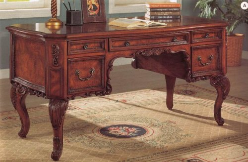 Modern Office L Shape Desk Mahogany 36 H X 67 W X 57 D