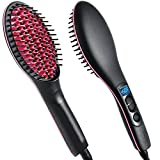#10: Jhmart 2 In 1 Ceramic Hair Straightener Brush (Black)