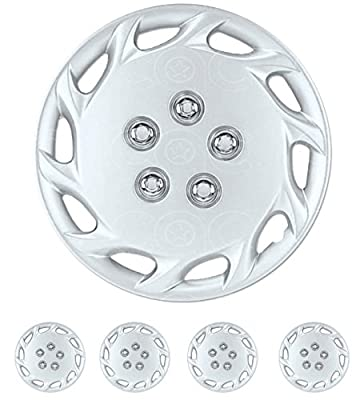 "4 PC Set 14"" Silver Hubcaps Wheel Replacement Hub Cap Toyota Camry Style Cover"