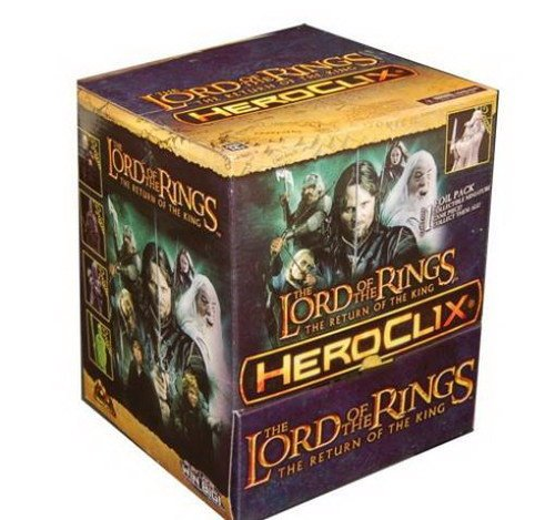 Return of the King - Gravity Feed Booster Pack (Case - 24 Packs) MINT/New (Heroclix Lord Of The Rings compare prices)