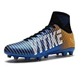WETIKE Soccer Cleats for Kids Football Boots with High Ankle Sock Athletic Running Soccer Shoes Performance Shock Buffer Foot Care (Little Kid/Big Kid)