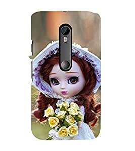 99Sublimation Doll with Flower in hand 3D Hard Polycarbonate Back Case Cover for Motorola Moto G3 :: G 3rd Gen :: G Dual SIM 3rd Gen