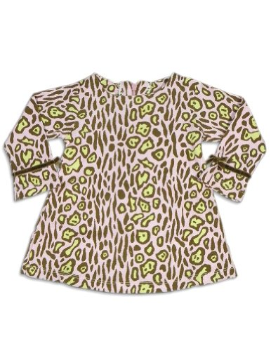 Snopea - Baby Girls Long Sleeve Leopard Dress, Pink, Brown 25822-18Months front-868773