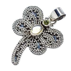 Amazon.com: Ana Silver Co Natural Ethiopian Opal Dragonfly, Peridot
