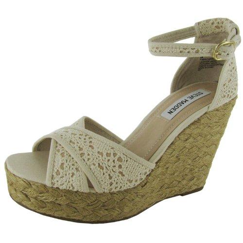 Steve Madden Women's Marrvil Wedge Sandal,Natural,9 M US
