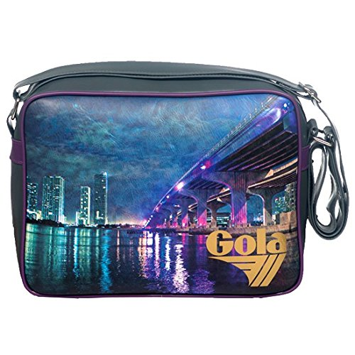 Gola Borsa a Tracolla Midi Redford Miami Bridge CUB467 Unisex (Gry/Grape/Gold)