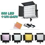 ePhoto 900 LED Dimmable Photography Video Camera DSLR 5400K/3200K Lighting Light Panel for sony CN900HS