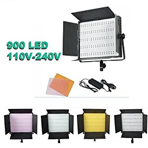 ePhoto 900 LED Dimmable Photography Video Camera DSLR 5400K/3200K Lighting Light Panel for sony CN900HS