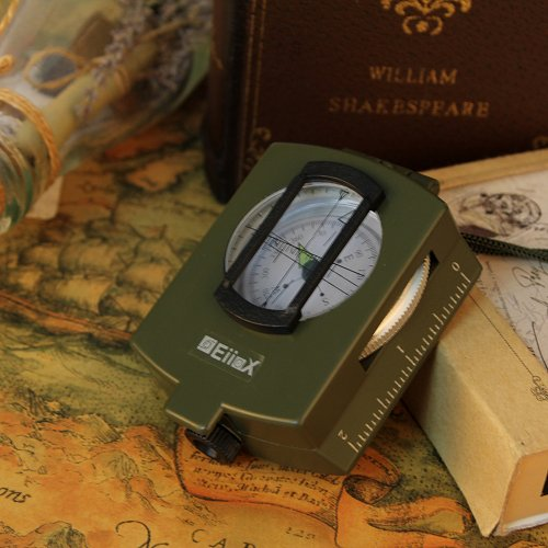 VeeCome Military Prismatic Sighting Compass