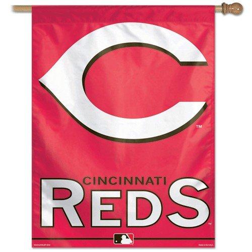 """MLB Cincinnati Reds Vertical Flag, 27"""" x 37"""""""