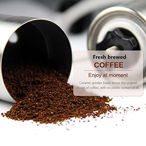 Oria Manual Conical Ceramic Burr Coffee Bean Grinder, 30g