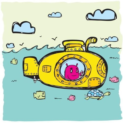 Wallmonkeys WM155312 Yellow Submarine Peel and Stick Wall Decals (24 in H x 24 in W)