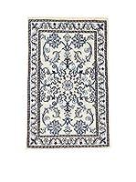 Eden Carpets Alfombra Nain K Beige/Azul 88 x 58 cm