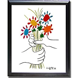 Petite Fleurs by Picasso Black-Framed Canvas (Ready-to-Hang)