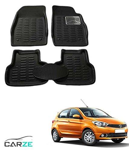 Autowheel Black 3D Floor Mat / Foot Mat (Set of 5 Pcs) For Tata Tiago