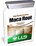 LLS High Strength Maca Root | Direct from Peru | 1000mg x 60 Capsules | Produced in the UK under GMP Certification from Love Life Supplements