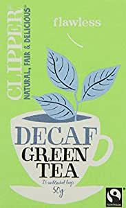 Clipper Fairtrade Decaf Green 26 Teabags (Pack of 6, Total 156 Teabags)