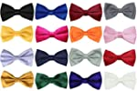 NEW PLAIN COLOURED PRE-TIED BOYS BOW...