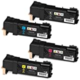 Doitwiser ® Compatible Toner Cartridges Set Black Cyan Magenta Yellow For Xerox Phaser 6500N 6500 6500DN WorkCentre 6505N 6505DN - 106R01597 106R01594 106R01595 106R01596 - Black High Yield 3,000 Pages and Colour High Yield 2,500 Pages (4 pack)