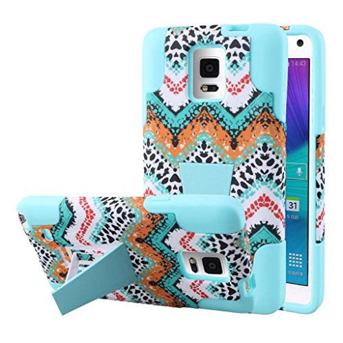 Samsung Galaxy Note 4 Case, MPERO IMPACT X Series Dual Layered Tough Durable Shock Absorbing Silicone Polycarbonate Hybrid Kickstand Case for Galaxy Note 4 [Perfect Fit & Precise Port Cut Outs] - Aqua Safari (Note Llc Phone compare prices)