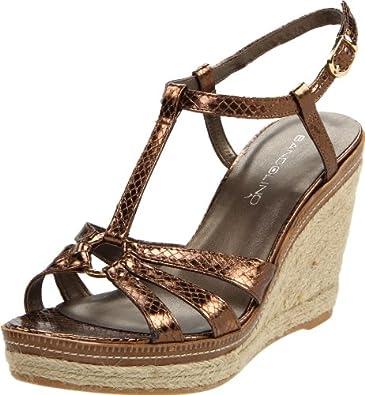 Bandolino Women's Kahari Wedge Sandal,Dark Bronze,5.5 M US