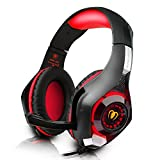 DIZA100 PS4 Gaming Headset with Microphone for PlayStation 4, Xbox one,PC-Red
