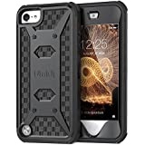 ULAK iPod Touch 5 & 6 case, KNOX ARMOR [Heavy Duty] Dual Layer Hybrid Protective Case and Impact Resistant Bumper (Black)