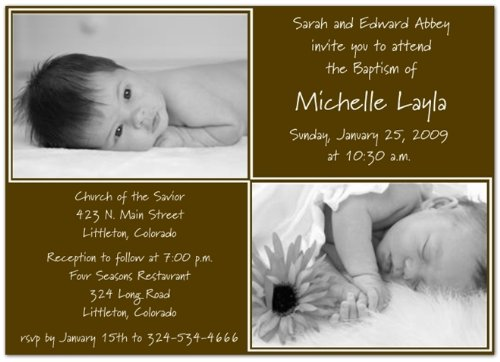 Baptism Invitations Photo front-271083