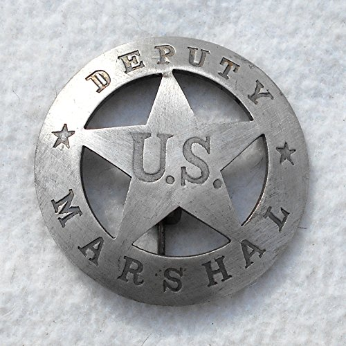 Costume Badge Large Round Deputy US Marshal Old West Prop