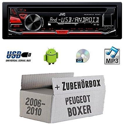 Peugeot Boxer ab 2006 - JVC KD-R471E - CD/MP3/USB Autoradio - Einbauset