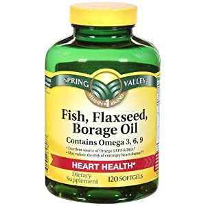 Spring valley fish flaxseed borage oil for Fish oil vitamins benefits