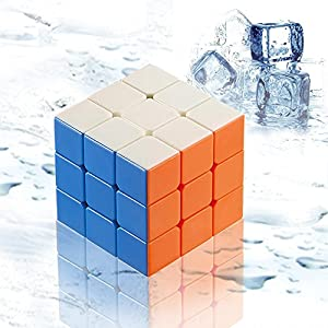 Newisland® 3x3x3 Speed Cube New Anti-POP Structure Drop&Water Resistant 6 Solid Color Stickerless Cube