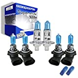 55w Super White Xenon High (main) / Low (dipped) / Fog / Side beam upgrade HeadLight Bulbs BMW 3 Compact SERIES E36 318 ti 03.94->08.00