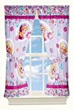 Disney Frozen Blooms Microfiber Drapes, 82 by 63-Inch
