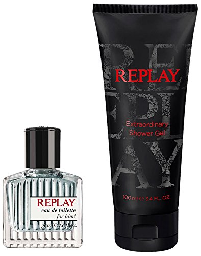 Replay for him edt 30 ml + Shower gel 100 ml di Replay, Cofanetto Uomo -