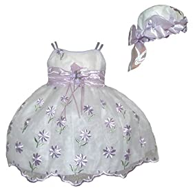 Newborn Girls Dress w/ Hat (0/3M - 18M)