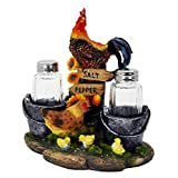 Farm Rooster And Chicken Salt And Pepper Shakers