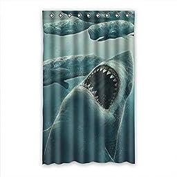 QYOU Ocean Shark Teeth Blackout Curtain Hooks For Living Room 52\